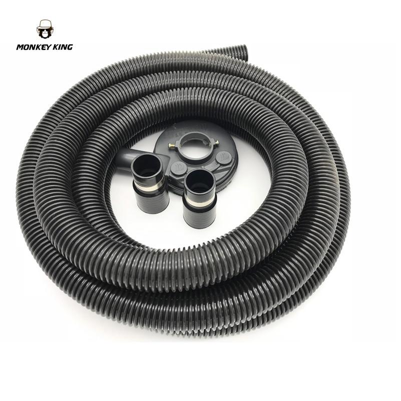 Vacuum Grinding Dust Guard Shroud Kit with 5mm Hose Pipe for Angle Grinder Hand Held Grinder Convertible Universal enlarge