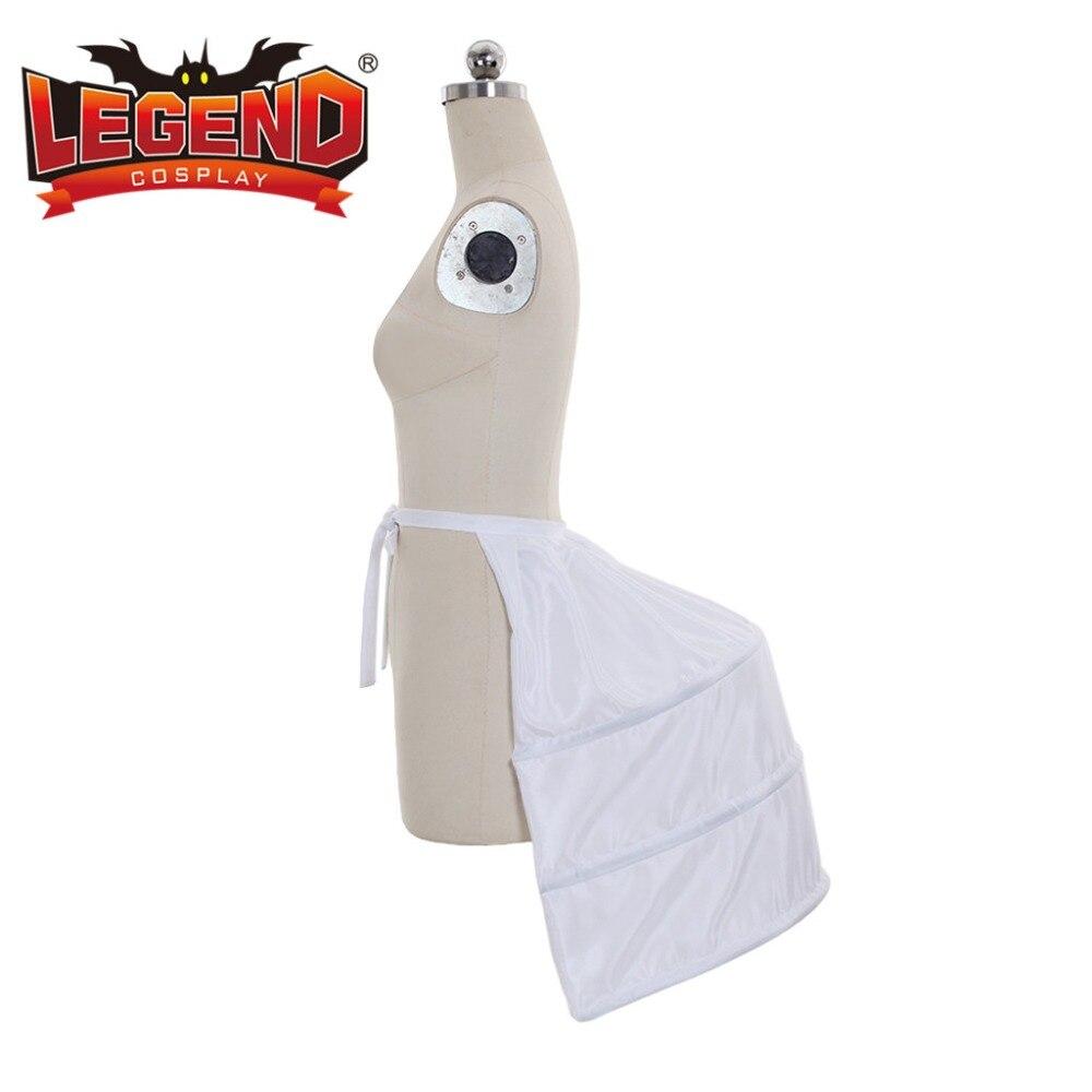 Vitoriana Bustle vestido de Senhoras Steampunk Gótico Branco Gaiola Quadro Alforje Crinolina Underskirt