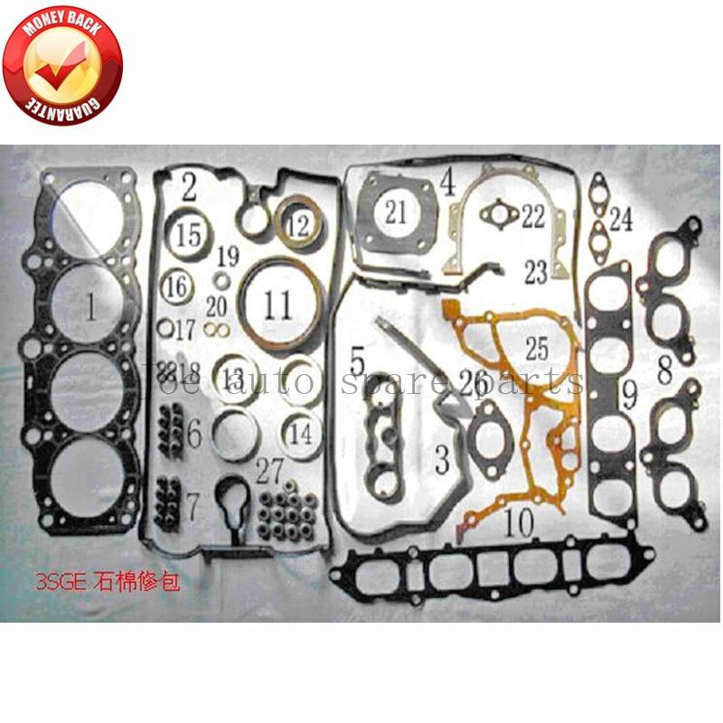 3SGE Engine Full gasket set kit for Toyota CELICA ST182 MR2 REV 2 GT 2.0L 16V 1998cc 89-2000 04111-74390 04111-74220 50251500