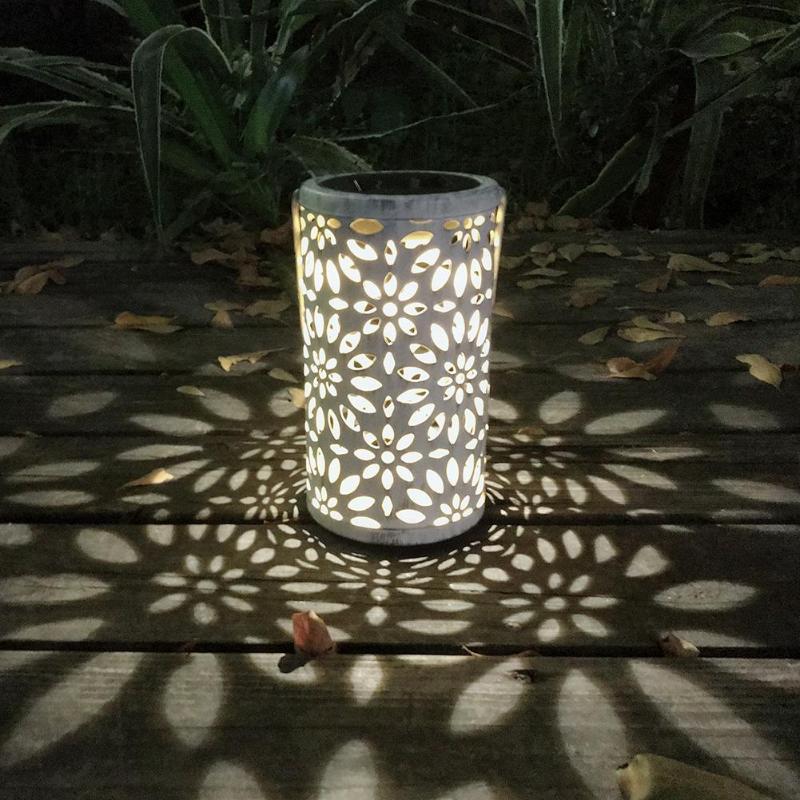 Lámpara Solar LED antigua, linterna, luz de mesa para interiores, jardín, jardín, ambiente, lámpara impermeable de Metal para exteriores
