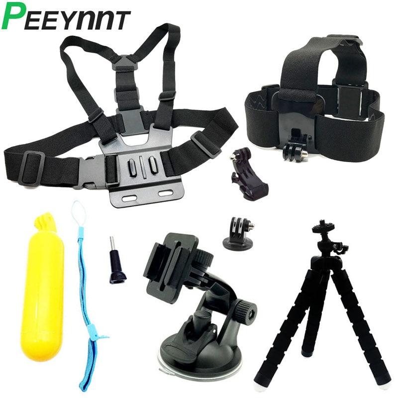 Peeynnt اكسسوارات مجموعة ل Gopro بطل 7 ل الذهاب برو 6 5 4 جلسة عمل كاميرا ترايبود جبل ل EKEN h9 Xiaomi يي SJCAM SJ4000