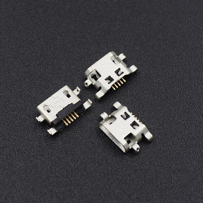 Разъем Micro USB 5pin B type-Female, 10 шт., для HuaWei Lenovo Phone, разъем Micro USB, 5-контактный разъем для зарядки