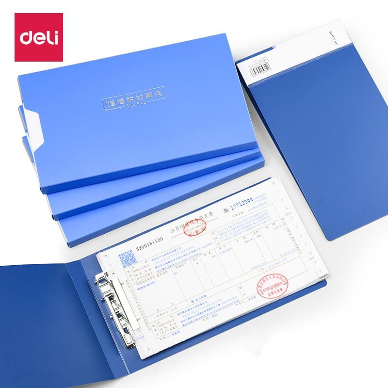 DELI Invoice Folder Business Bill Value-added Tax Invoice Folder Receipt Invoice Check List Office File Folders Filing Supplies