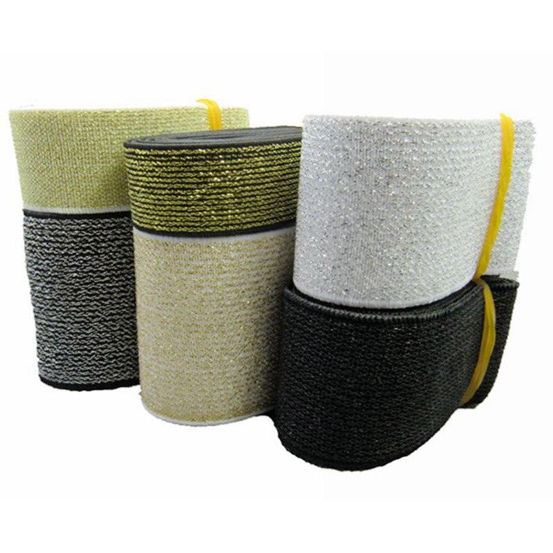 Качественная эластичная лента/Золотистая и серебристая широкая эластичная лента/широкий пояс украшение с аксессуарами 2-6 см