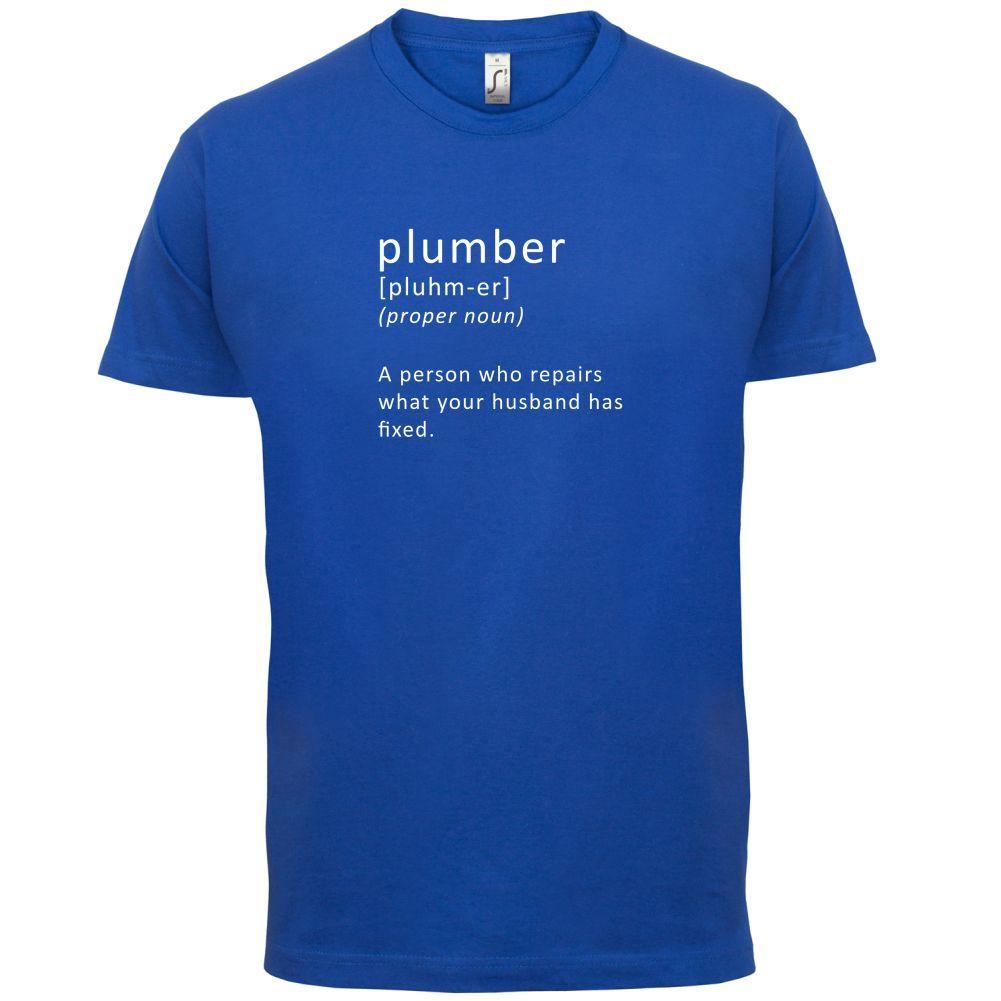 Definir fontanero-Mens T-Shirt-fontanería/trabajo/divertido/regalo-13 camiseta de colores con dibujo hombre Tops calientes de manga corta Camiseta