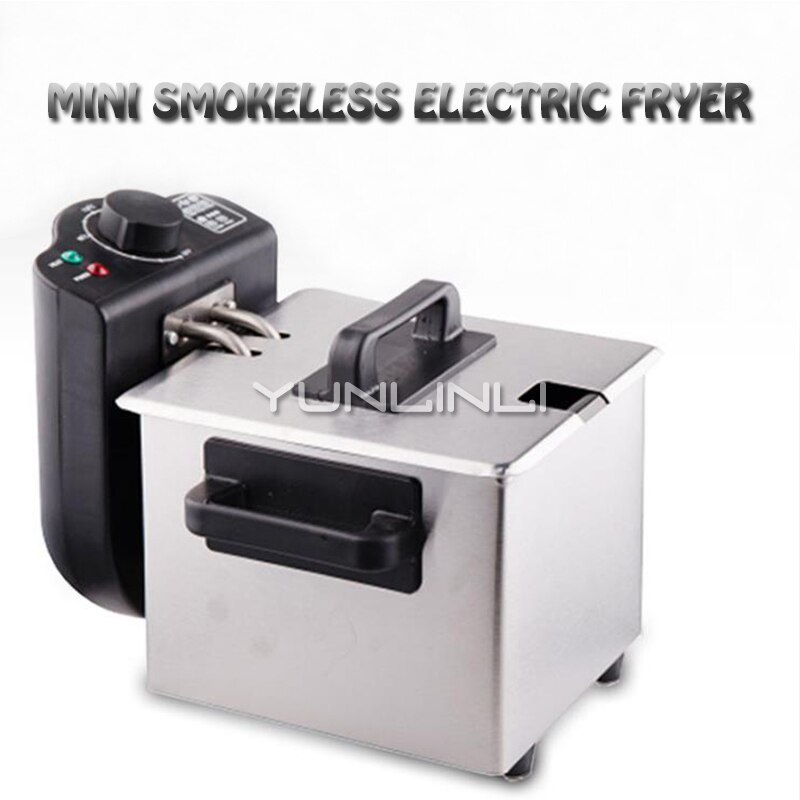 1.5L Mini Electric Deep Fryer Household Constant Temperature Frying Machine Smokeless Frying Cooker WJ-105