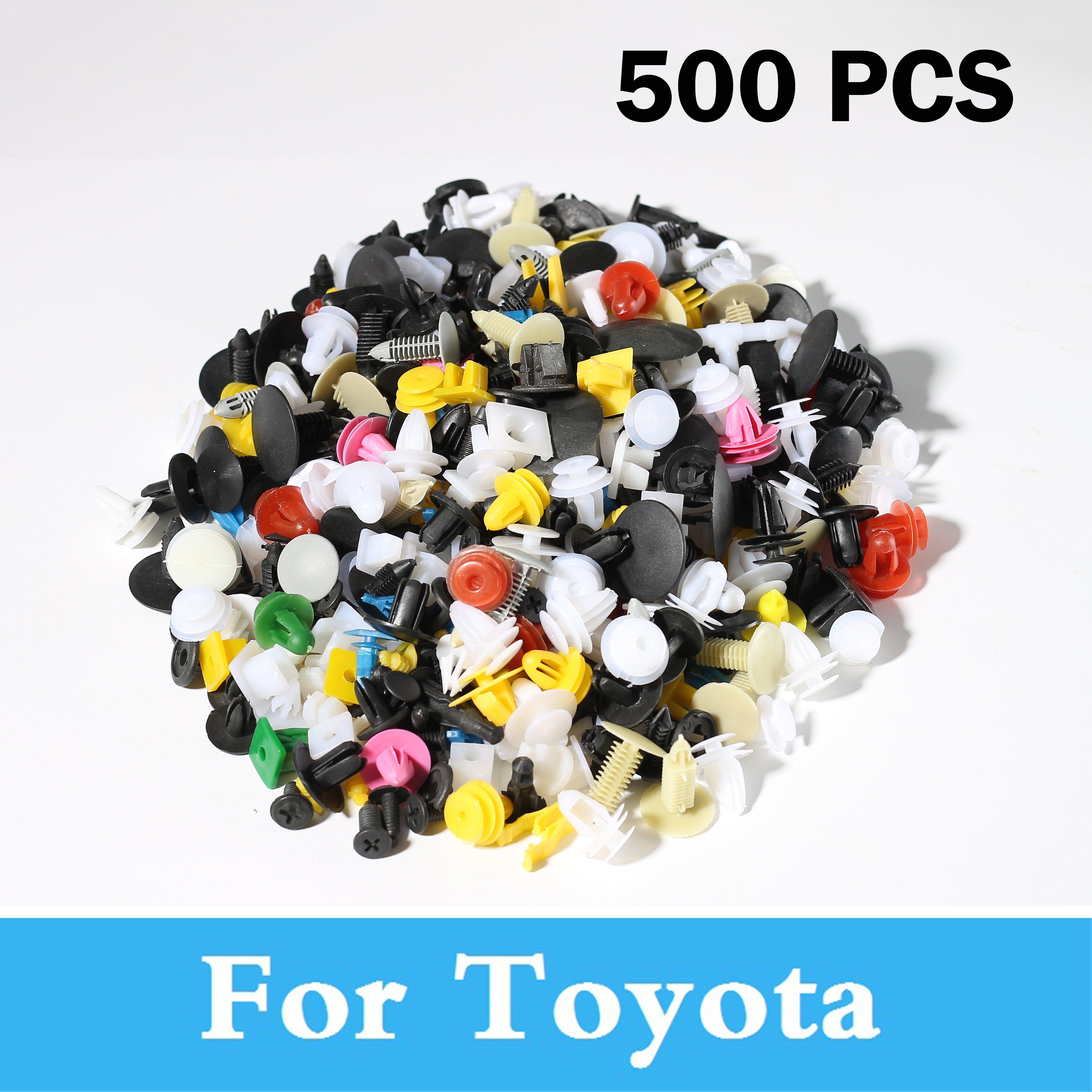 Новинка, 500 шт., автомобильные пластиковые заклепки, крепеж, бампер, зажимы для Toyota Century Corolla Fielder Solara Celica Celsior Corolla Camry