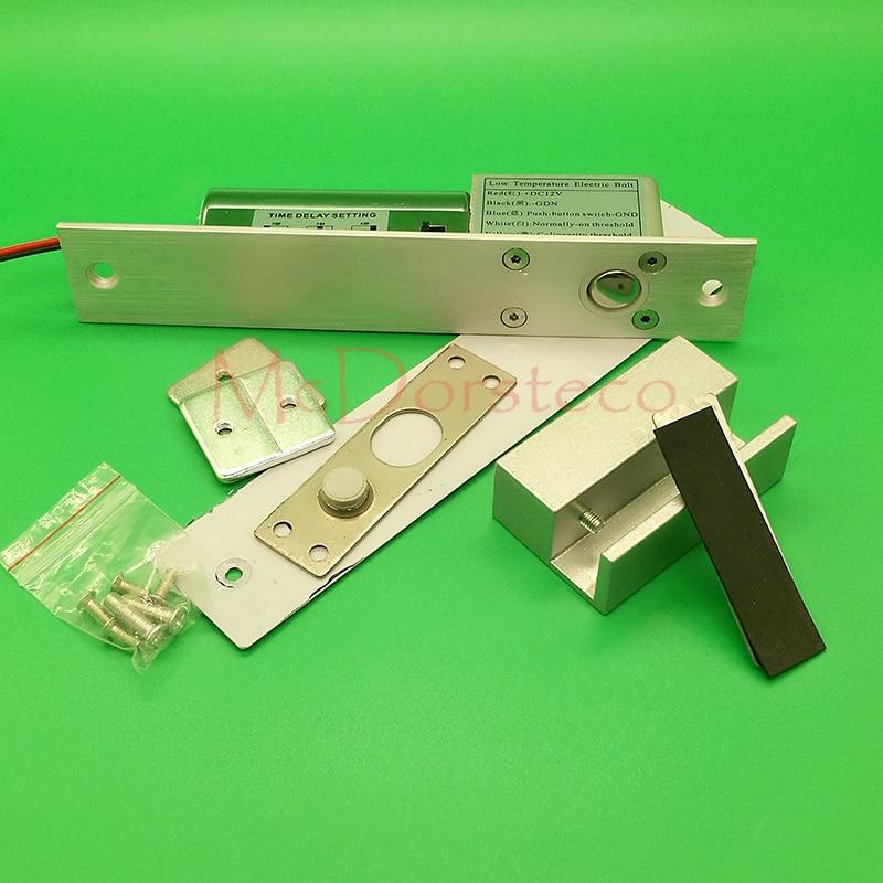 Контроль доступа стеклянный дверной замок DC12V безопасный Электрический замок с защелкой замок безопасности Электрический врезной замок та...