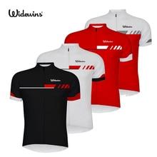 Widewins Женская/Мужская велосипедная майка с коротким рукавом, летняя одежда для велоспорта, белая/Черная/Красная 6510