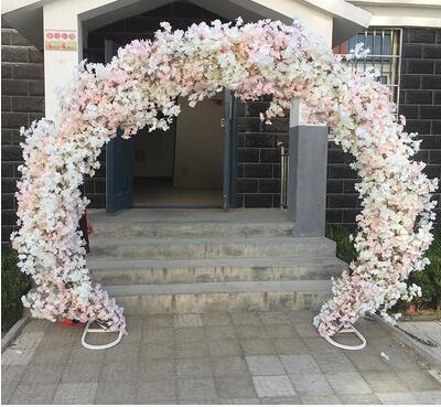Arc de cerise Porte fleur ronde à dimensions Arc à treillis de mariage et de mariage   Arc à fleurs, 40. 013