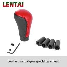 LENTAI 1Set Car Gear Shift Knob Shifter Knob Leather For Renault Megane 3 Duster Logan Captur Clio Chevrolet Cruze Aveo Captiva