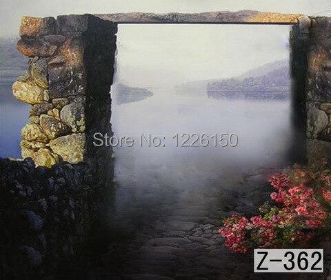 Pintados à Mão Fundo da Foto Fundo do Estúdio da Fotografia Muslin Backdrops Preofessional 10ft Z-362 Misterioso Cênica 10 *