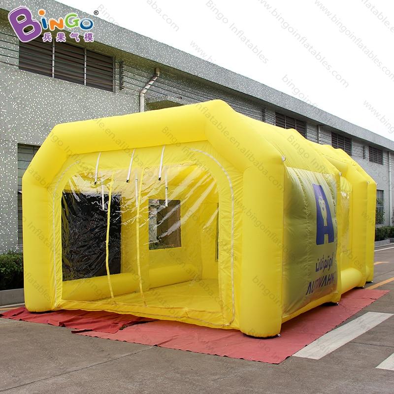 Cabina inflable de aerosol de pintura de coche personalizada 6.5X4.5X3m Amarillo/cabina de pintura temporal inflable-tienda de juguete