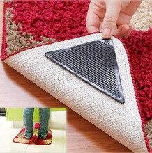 Tapis antidérapant 4 pièces   Tapis de sol pour la maison, tapis antidérapant, Grip Silicone réutilisable lavable pour salon