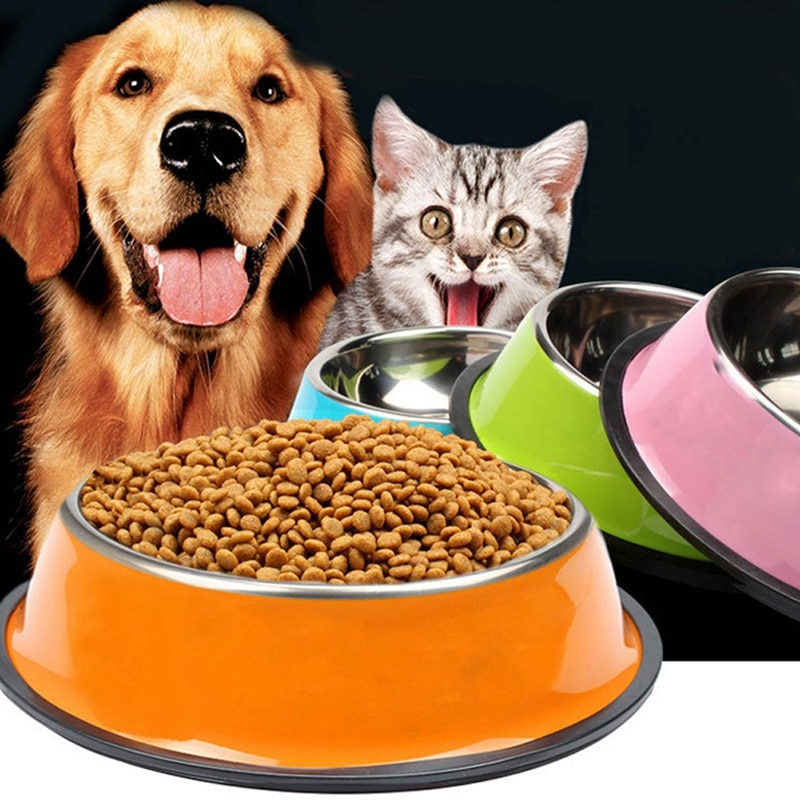 Основная пищевая чаша для домашних животных щенков кошек миски кормушка