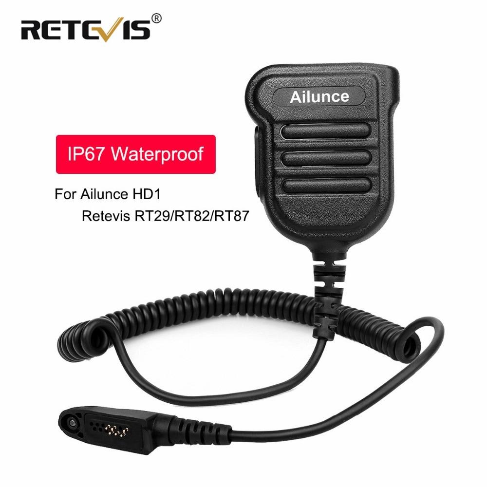 Nowy ulepszony IP67 wodoodporny głośnik PTT mikrofon dla Ailunce HD1 Retevis RT29/RT82/RT83/RT87/RT648/RT647 Walkie Talkie J9131G