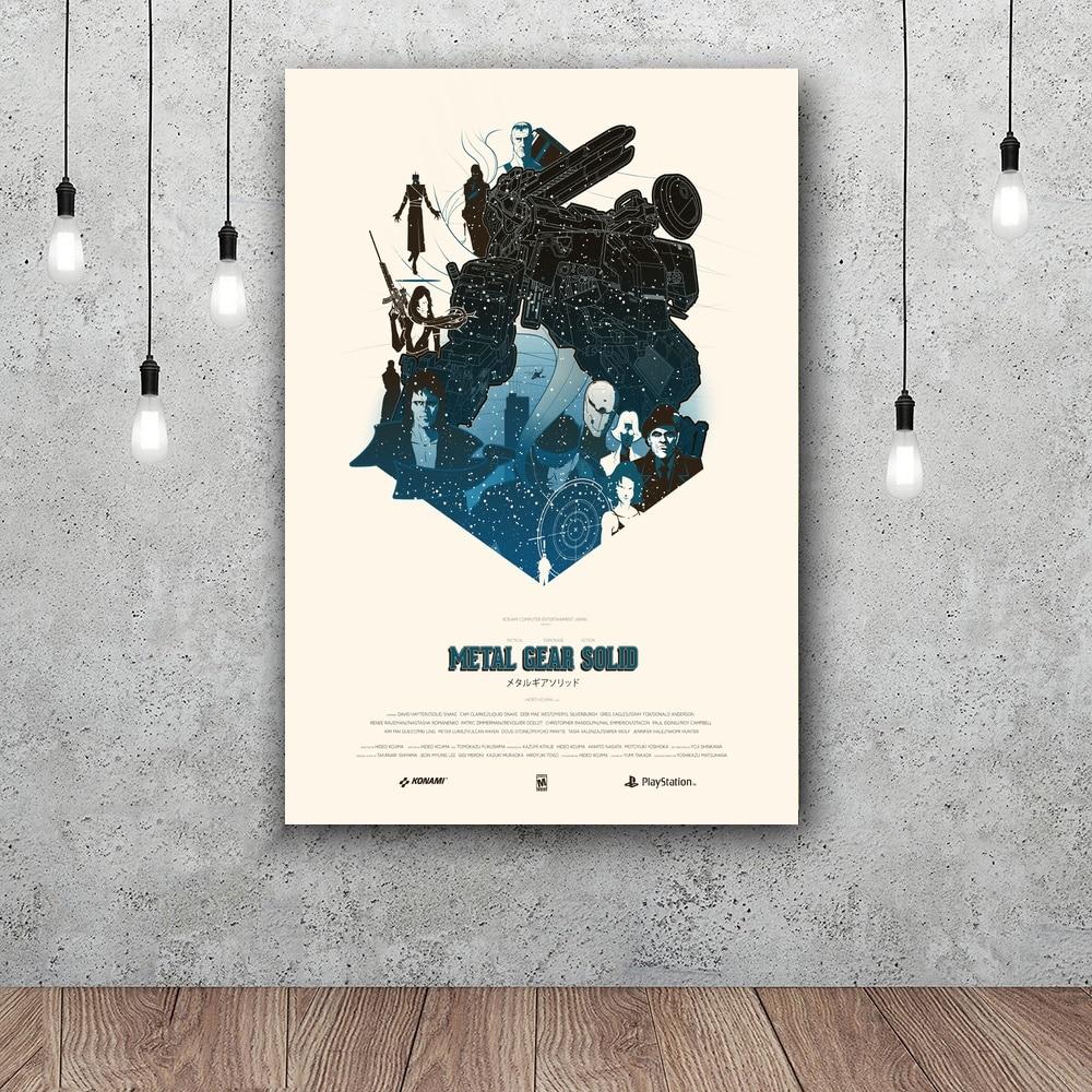 Металлическая шестерня, твердый постер, Настенный декор, шелковые принты, художественные плакаты, постеры для гостиной