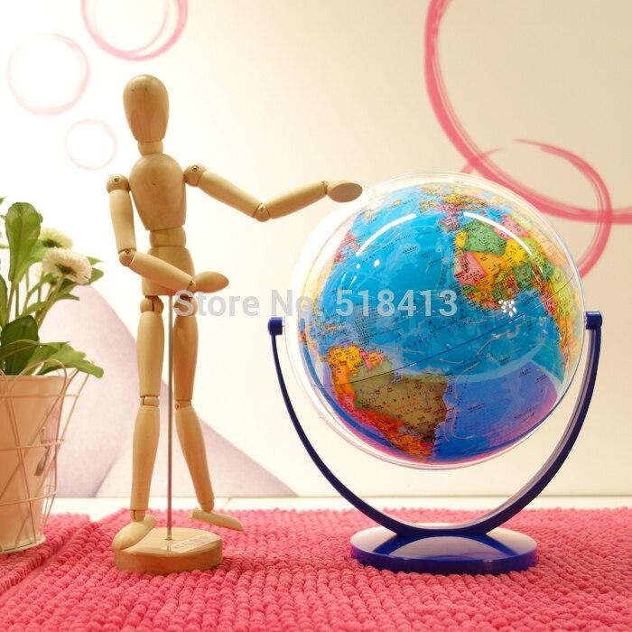 Наклон универсального земного шара Dia 20 см Hd Ocean Blue на английском и китайском студенческом образовательном стиле унисекс 2020