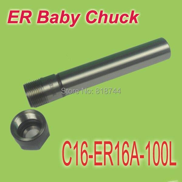 Darmowa wysyłka do wszystkich krajów SHK 16 ER16 100 MM długość dla dzieci ER uchwyt uchwyt rozszerzenie do frezarki CNC