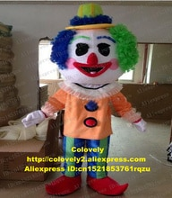 Clown Buffoon Jester Joker Comedian Funnyman Mascot Costume Adult Cartoon Character Large Family Gathering Grand Opening zz6936