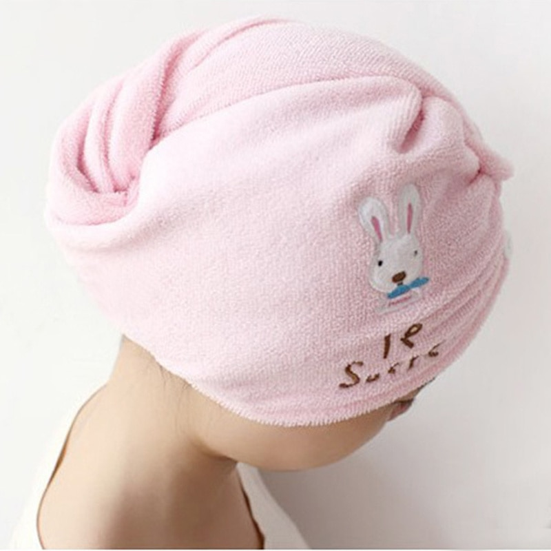 New Useful Fast Dry Hair Cap Microfiber Towel Hair Hat Dry Napkin Turban Bath Towels for Adults Lady Beach Towel Bathroom Towels