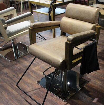Парикмахерское кресло парикмахерское кресло из массива дерева винтажное кресло для волос специальный парикмахерский стул