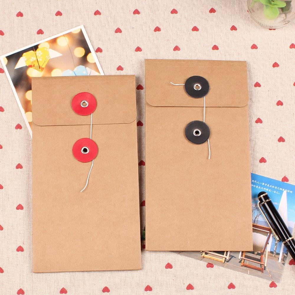 10,5*21 cm 10 unids/lote bolsa de papel Kraft bolsa de bolsillo bolsa de documento para cuaderno diario Sprial hoja suelta archivo Sobre