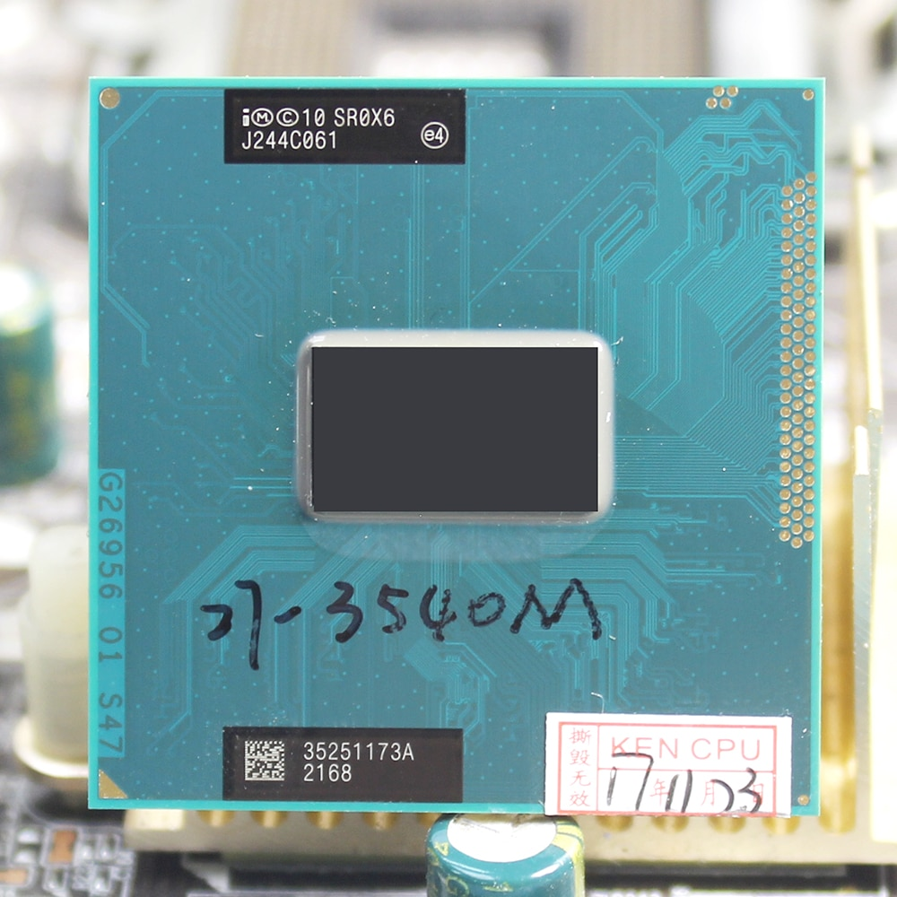 Intel-Core i7 3540M 3.0GHz 4M Socket G2 Dual Core SR0X6 3540 Notebook Notebook CPU PGA 988 pin