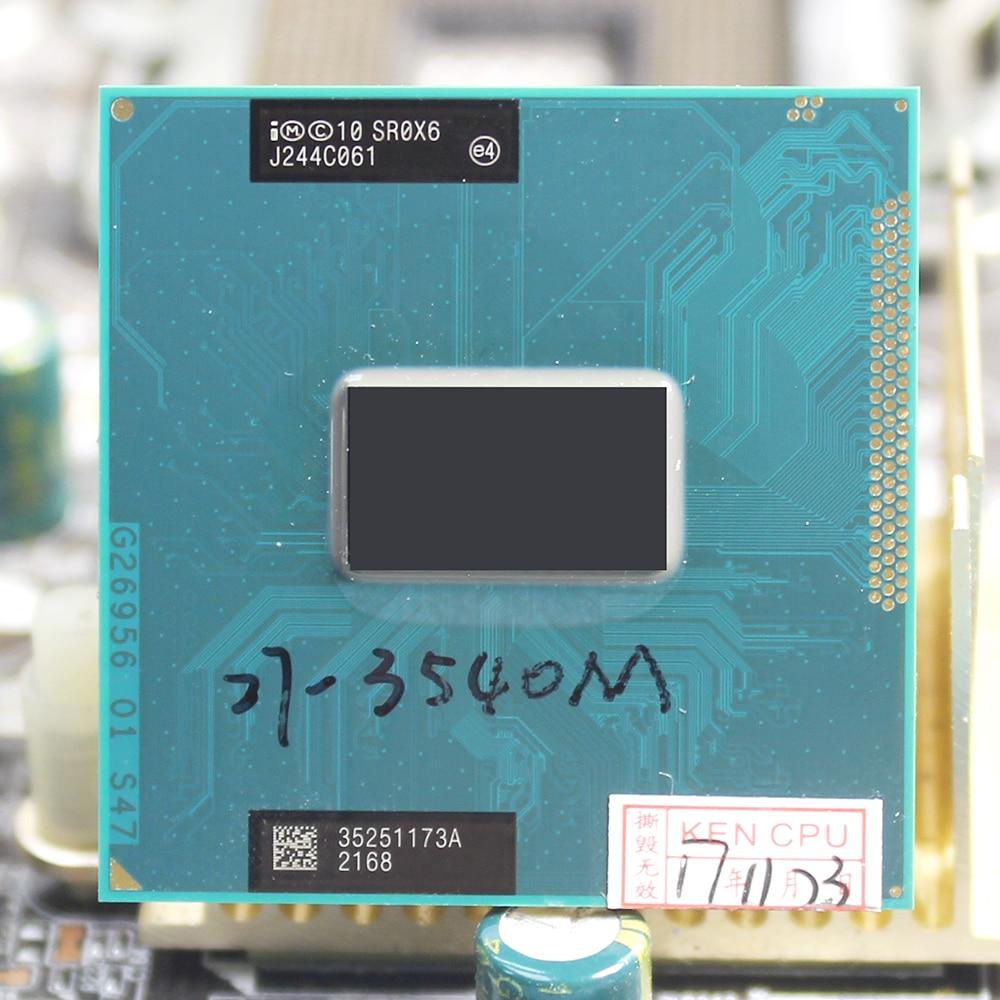 Intel Core i7 3540M 3,0 GHz 4M розетка G2 двухъядерный SR0X6 3540 ноутбук CPU PGA 988 pin