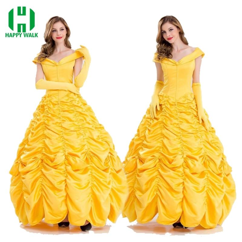 2020 filme de beleza e a besta princesa belle cosplay traje emma watson belle vestido trajes de halloween para adulto vestido feminino