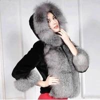 thick warm winter jacket women real raccoon fox fur collar hooded down jacket coat oversized parka warm women down coat