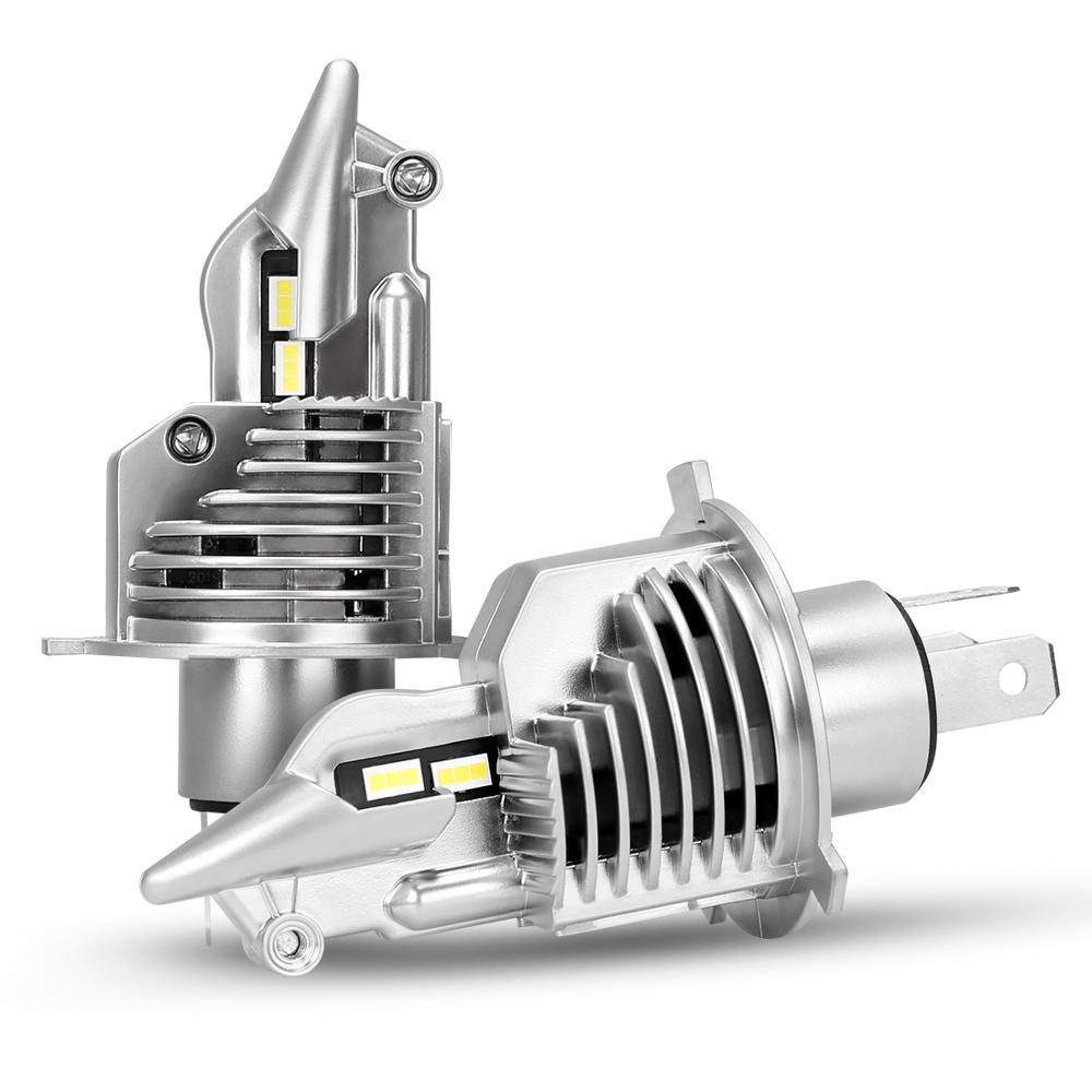 1 conjunto mini tamanho h4 hb2 9003 35w 5800lm csp chips lutador led farol tudo-em-um 11 bulbos tamanho carro motocicleta alta/baixo feixe 6k