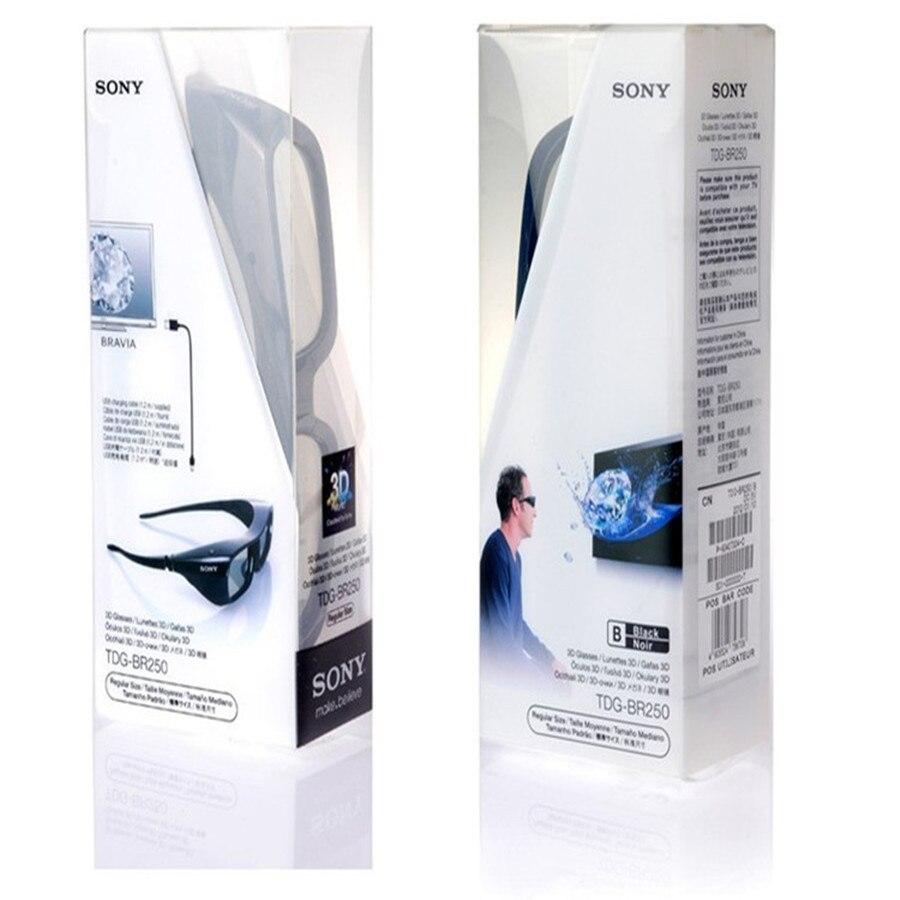 2 uds. De gafas activas 3D recargables para Sony TDG BR250B BRAVIA HX800 HX909 TV 2010-2012, gafas 3D TDG-BR250/B