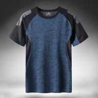 quick dry sport t shirt men 2021 short sleeves summer casual cotton plus asian size m 5xl 6xl 7xl top tees gym tshirt clothes