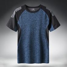 Séchage rapide Sport T-shirt Hommes 2020 Manches courtes Dété Décontracté Coton Plus Taille Asiatique M-5XL 6XL 7XL Top T-Shirts T-SHIRT de GYM Vêtements