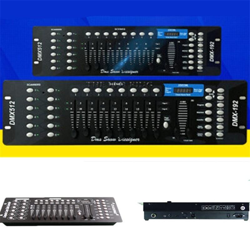 Controlador profesional DMX 192 para iluminación de escenario, equipo de DJ, consola DMX 512, led por luz con cabezal móvil, controlador de DJ sin micrófono
