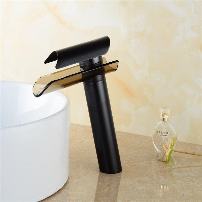 Grifo de lavabo de latón negro de un solo agujero, grifo de lavabo de cobre, grifo de lavabo de baño, grifo mezclador