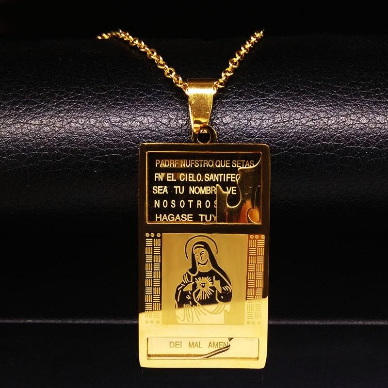 2020 Hip Hop Punk Rock Micro collares con pieza de Jesús para hombres viento Jesús Color oro colgante collar de rapero joyería N12261B