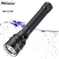 AloneFire DV52 dive light LED back up diving flashlight 18650 Underwater Waterproof dive lanterna torch
