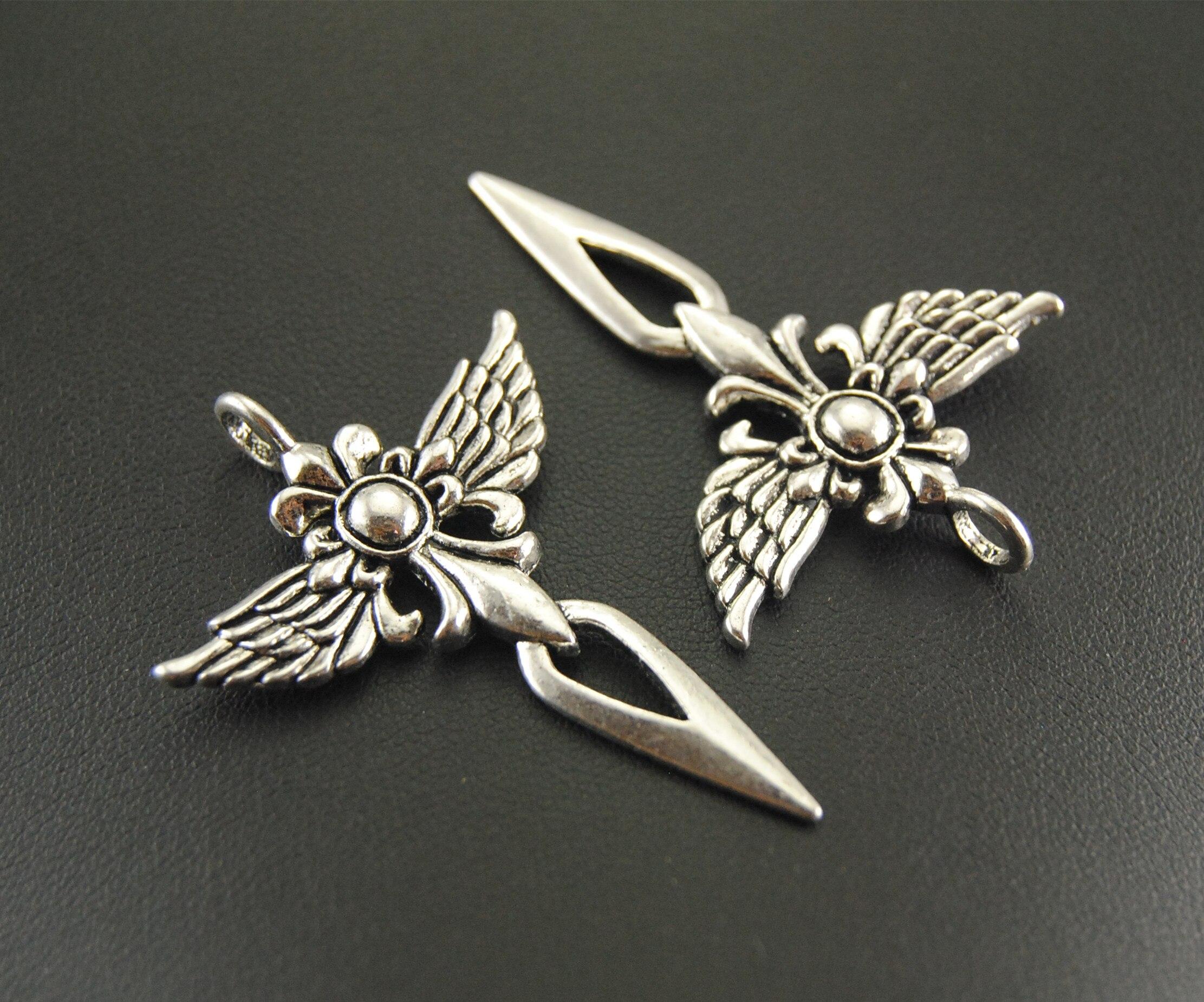 15 Uds., colgante de plata con forma de espada cruzada, colgante de Metal DIY para pulsera, collar, accesorios de joyería A658