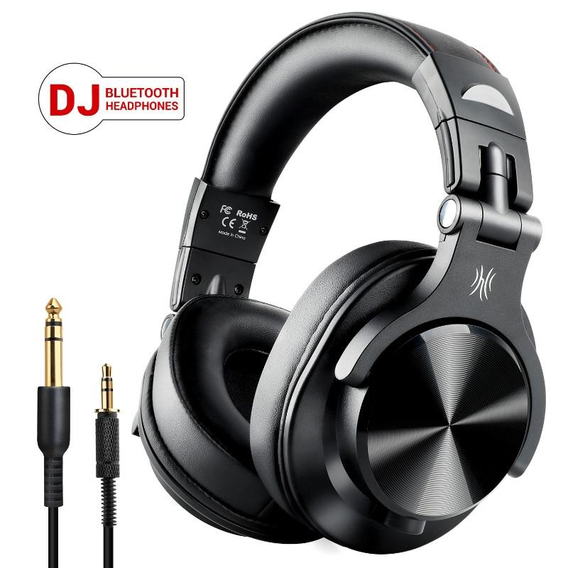 OneOdio A70 اللاسلكية سماعة رأس بمايكروفون فوق الأذن المهنية استوديو تسجيل رصد DJ سماعة بلوتوث-متوافق