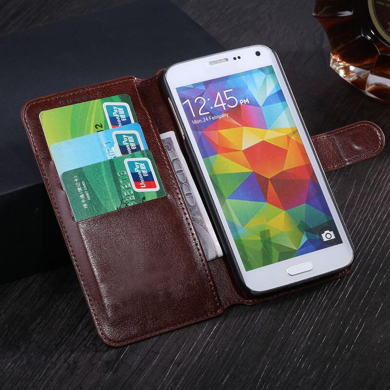 Funda de cuero de PU de lujo funda magnética con tapa con tarjetero fundas para Highscreen Easy Power XL Fest F Pro cubierta del teléfono