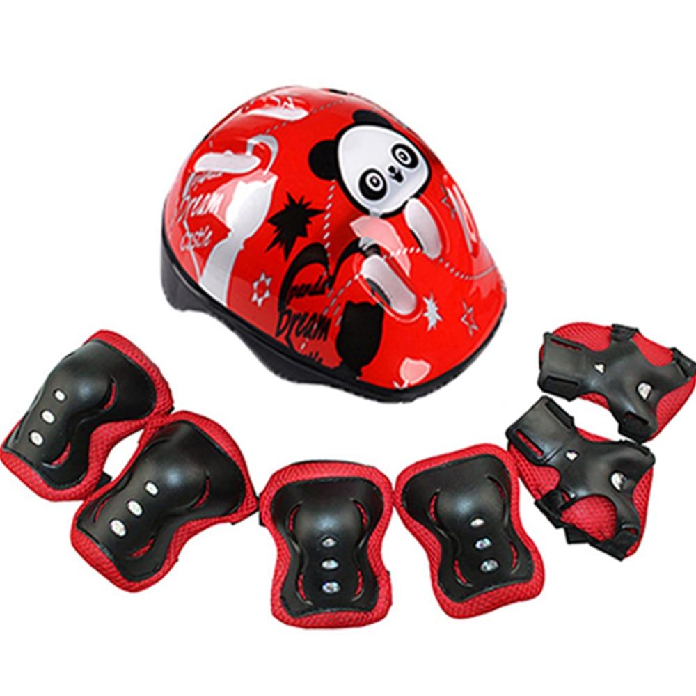 Conjunto de 7 unidades de casco de patinaje para niños, protector de codo de rodilla, almohadillas para muñeca, casco de patinaje para niños, protección, almohadilla de patinaje de seguridad