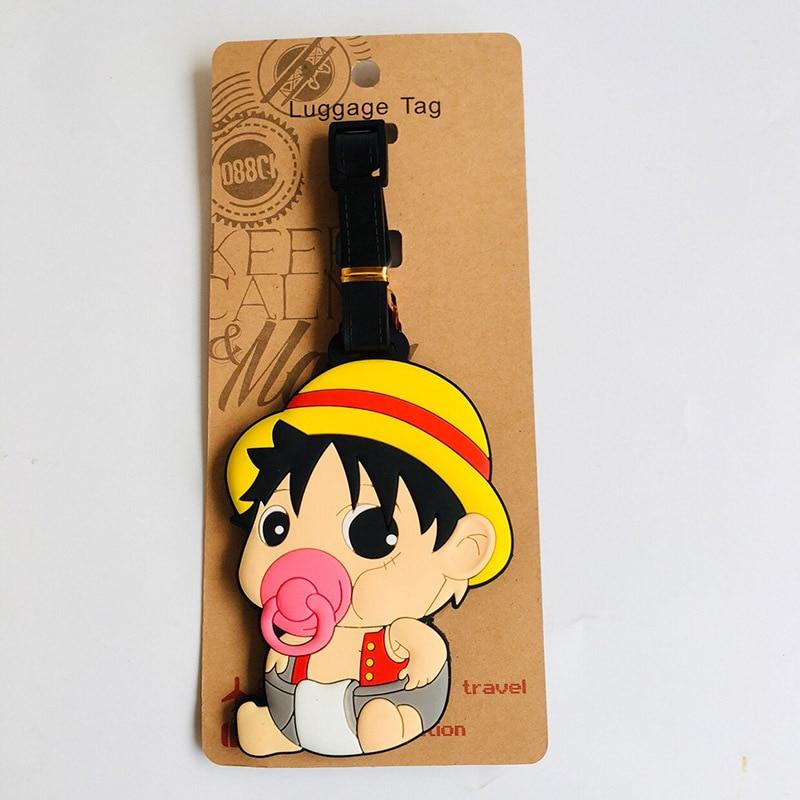 Ivyye bebê uma peça doraemon anime acessórios de viagem bagagem tag mala id endereço portátil tags titular etiqueta da bagagem novo