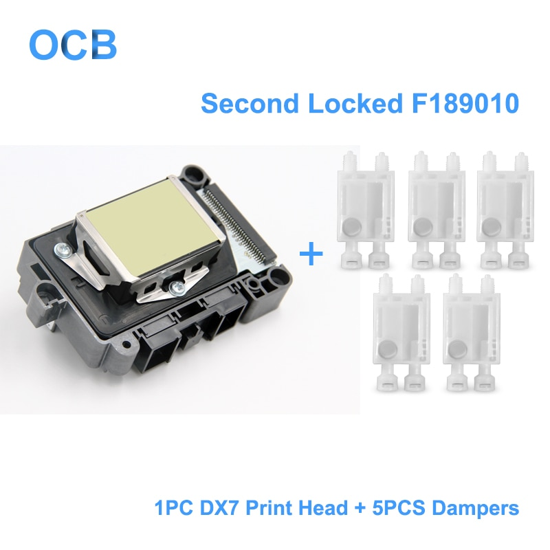Nuevo F189010 segundo cerrada cabezal de impresión DX7 a base de solvente Impresión UV la cabeza para Epson Stylus Pro B300 B310 B500 B510 B308 B508 B318 B518