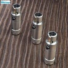 MINI XLR connecteur canon femelle 3-PinsLittle Bee/W MPS plaqué or Ph Bronze pour Microphone K701 K702 casque HIFI Audio