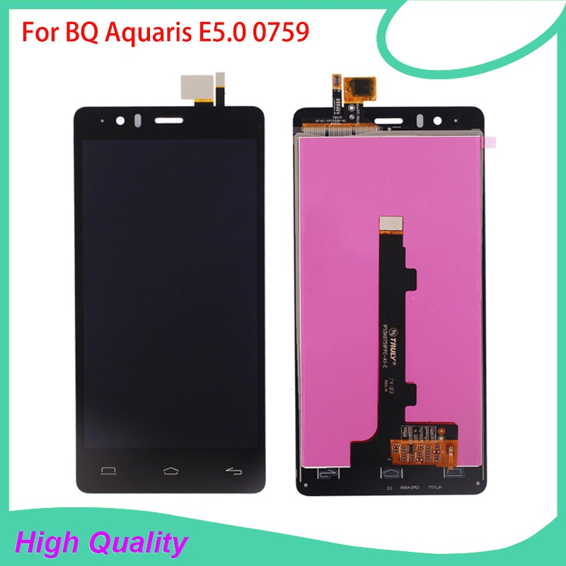 100%Guarantee LCD Display For BQ Aquaris E5 BQ E5.0 0759 Touch Screen Digitizer Assembly High Qualit