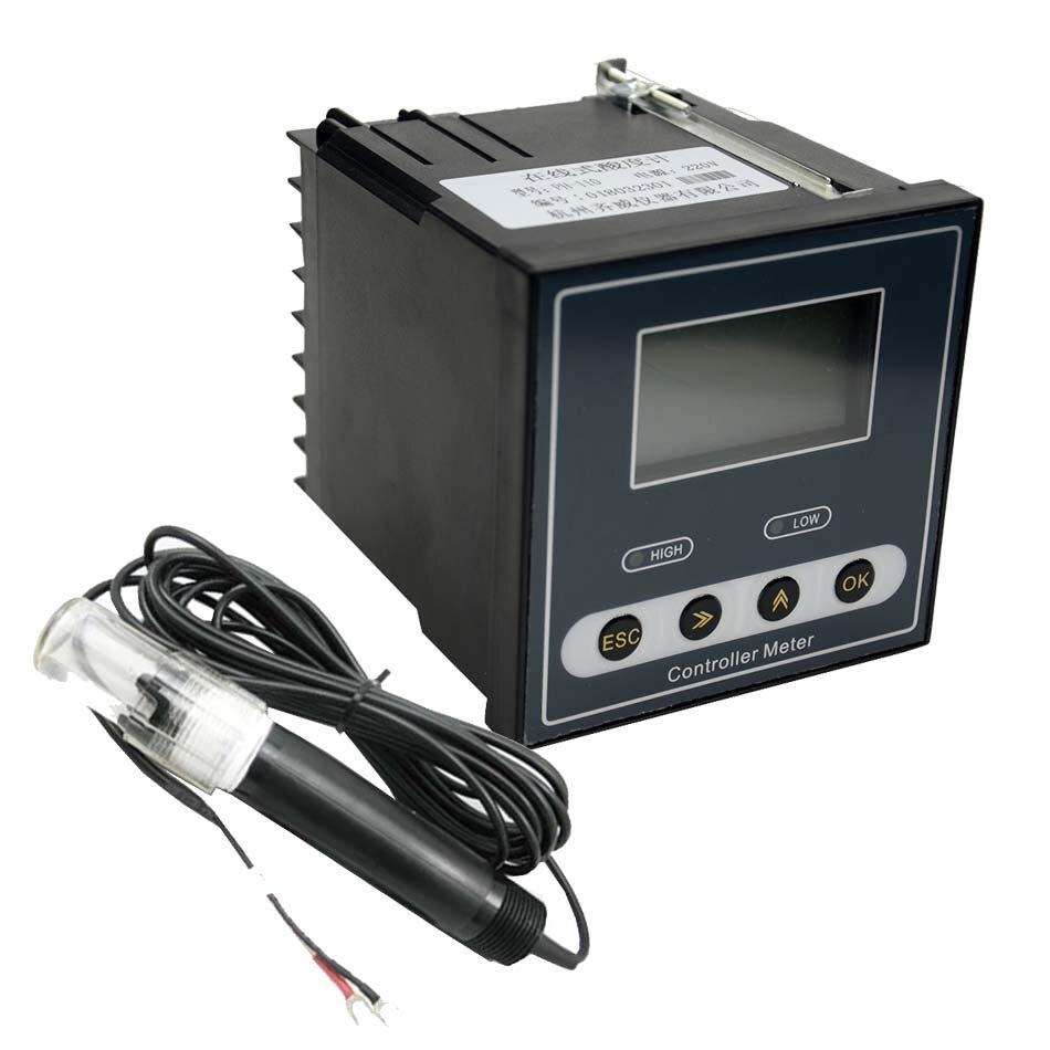 Online, medidor ORP Industrial, controlador de PH, Monitor Digital, 0,02ph, 1mV, Control de límite superior, alarma, controlador de PH