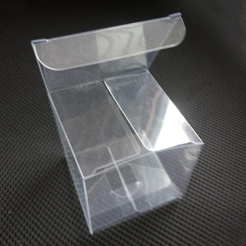 100 Uds cuadrado caja transparente de PVC cajas PVC plástico transparente caja de plástico de embalaje de Cajas de Regalo para joyería/Navidad/boda/REGALO/