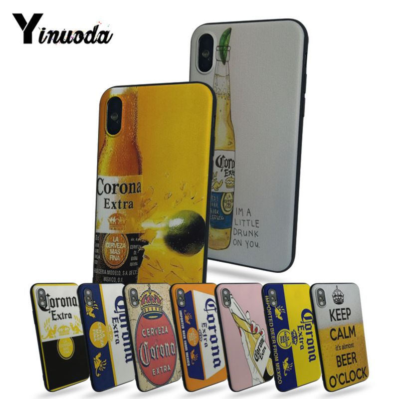 Yinuoda cerveza Corona TPU funda de goma suave funda para el iPhone 7 7plus X 8 8plus y 5 5S 6s 6s Plus funda para teléfono móvil